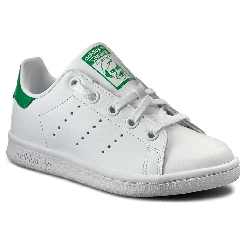 Chaussures adidas - Stan Smith C BA8375 Ftwwht/Ftwwht/Green