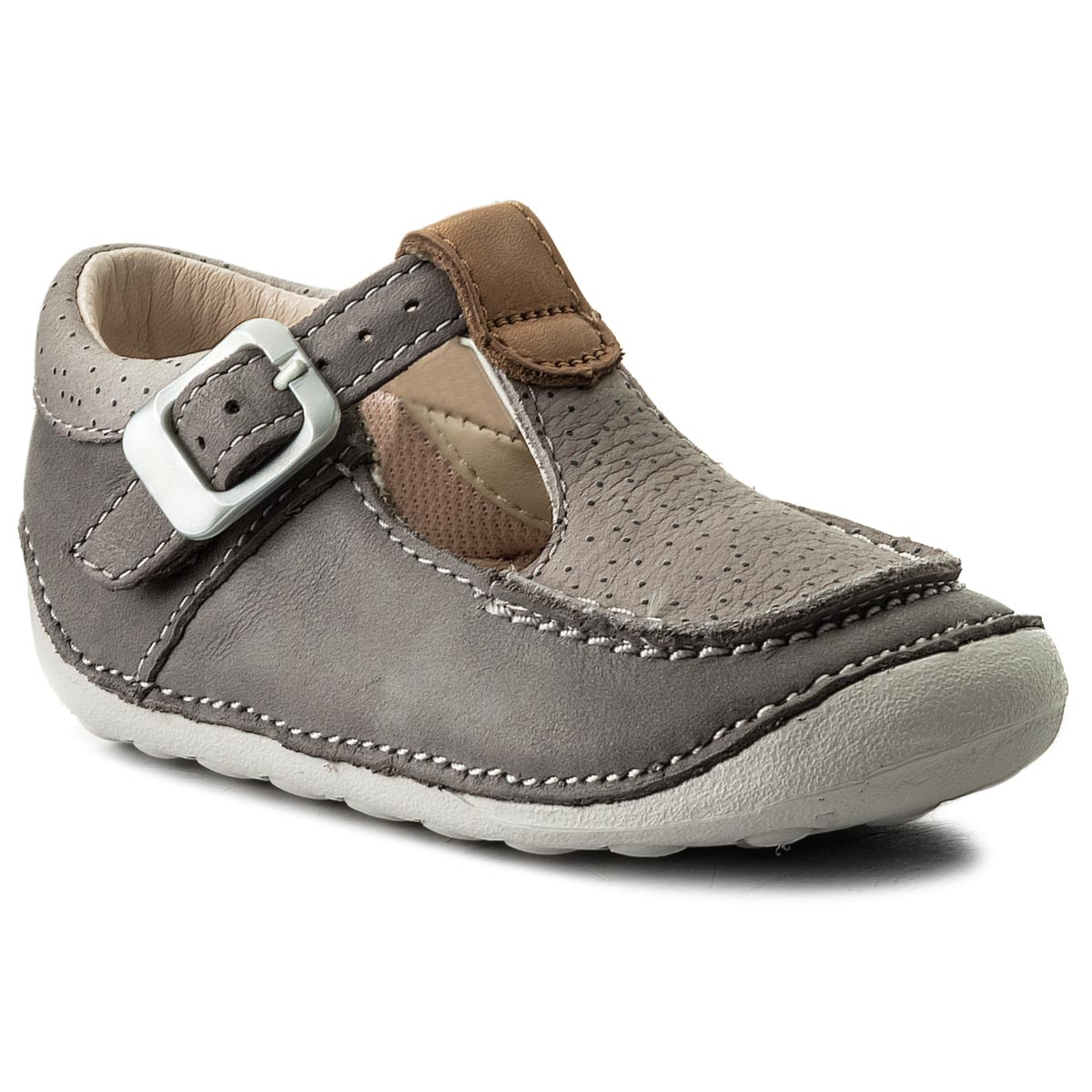 Mocassins CLARKS - Tiny Rosa 261317296 Grey Leather