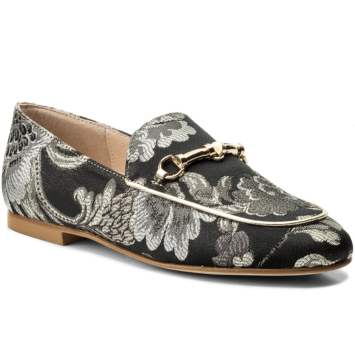 Loafers HEGO'S MILANO - 1020 Fiori Lam. Arg./Acc. Plat.