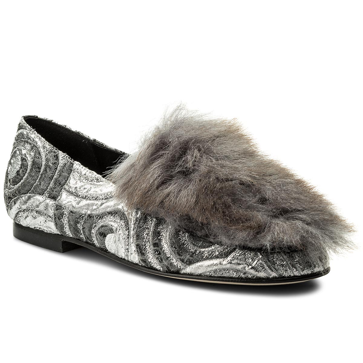 Loafers HEGO'S MILANO - 1027 Circles Argento/Fur Bianco
