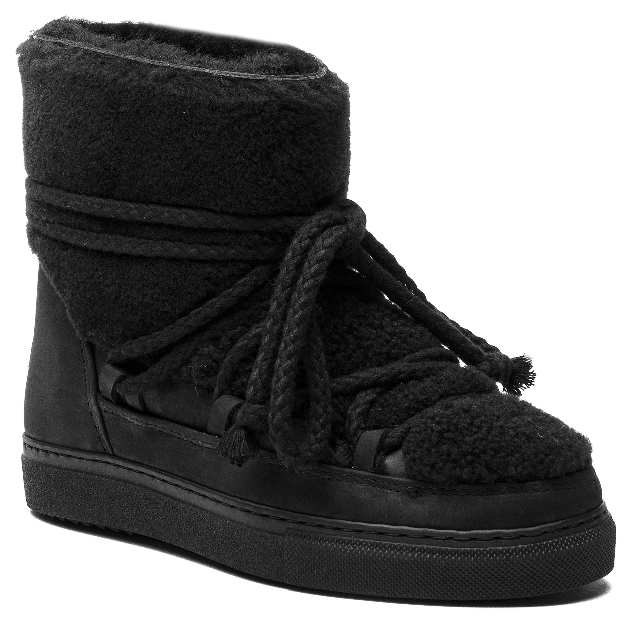 Chaussures INUIKII - Sneaker Curly 70202-16 Black-Blk Cot. Laces