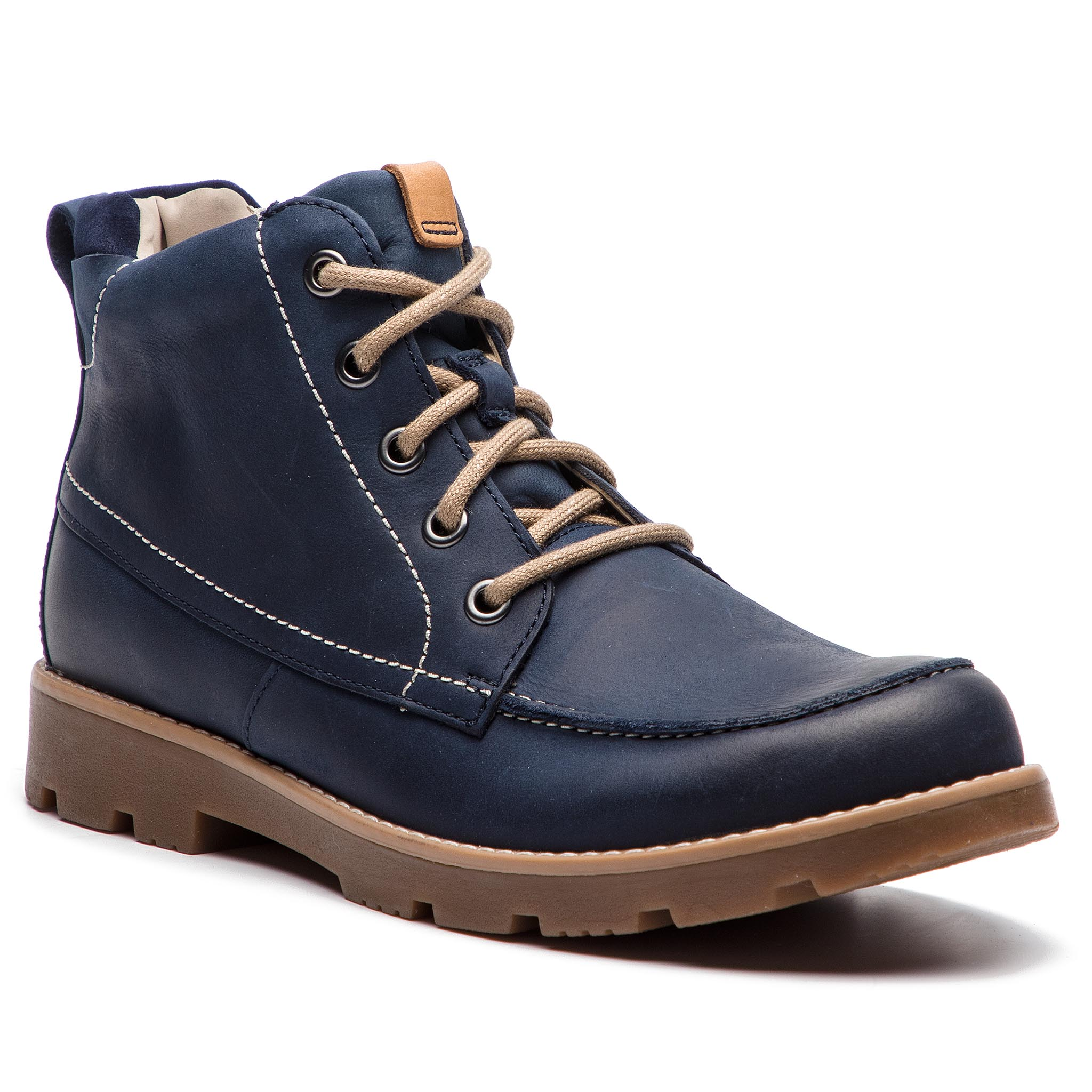 Boots CLARKS - Comet Moon 261358516 Navy Leather