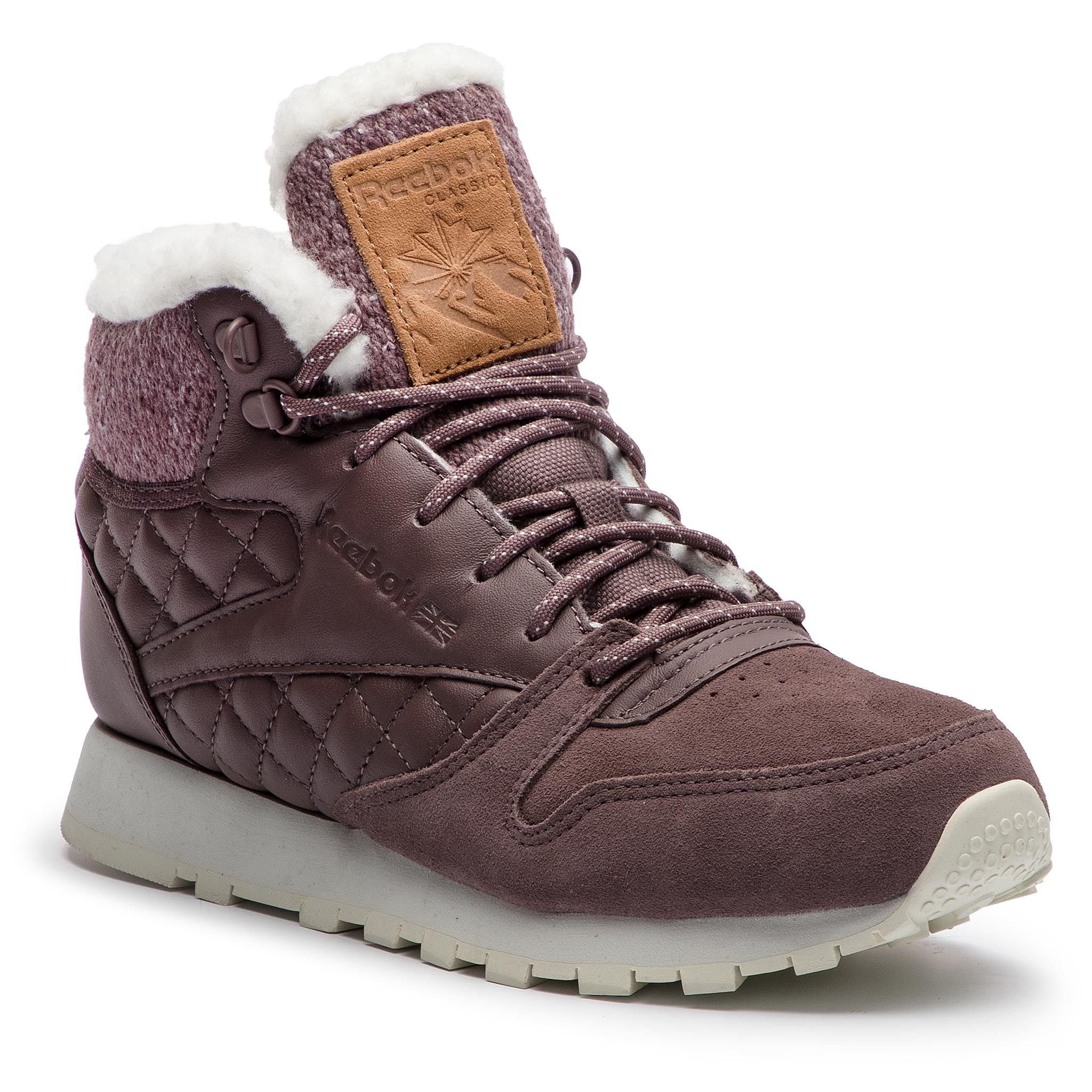 Chaussures Reebok - Cl Lthr Arctic Boot CN3747 Almost Grey/Chalk/Camel