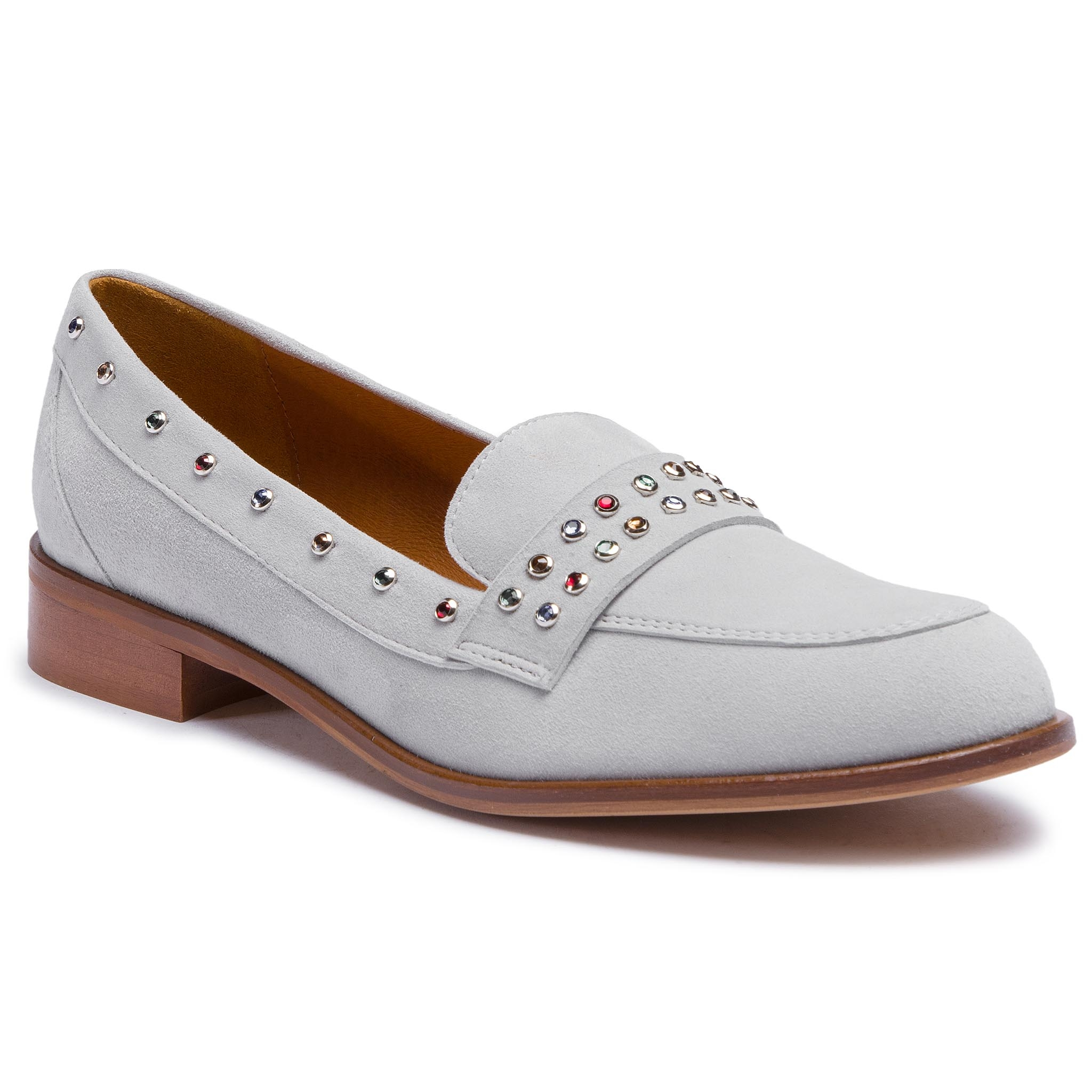 Loafers SOLO FEMME - 96642-05-G15/000-03-00 Jasny Szary