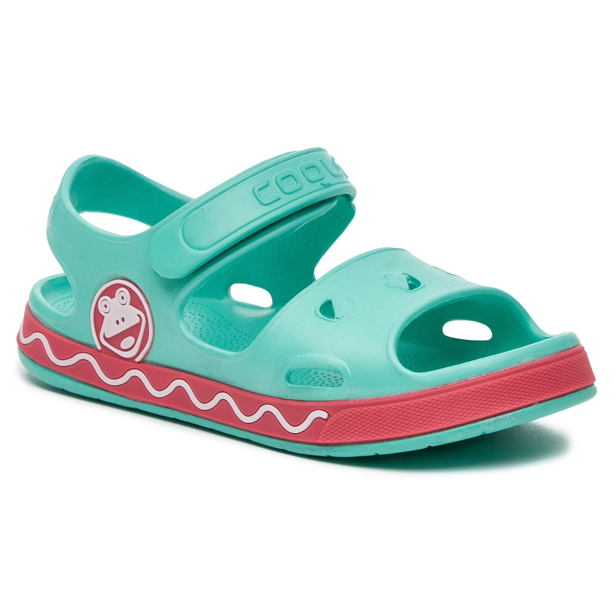 Sandales COQUI - Fobee 8852 Mint/New Rouge