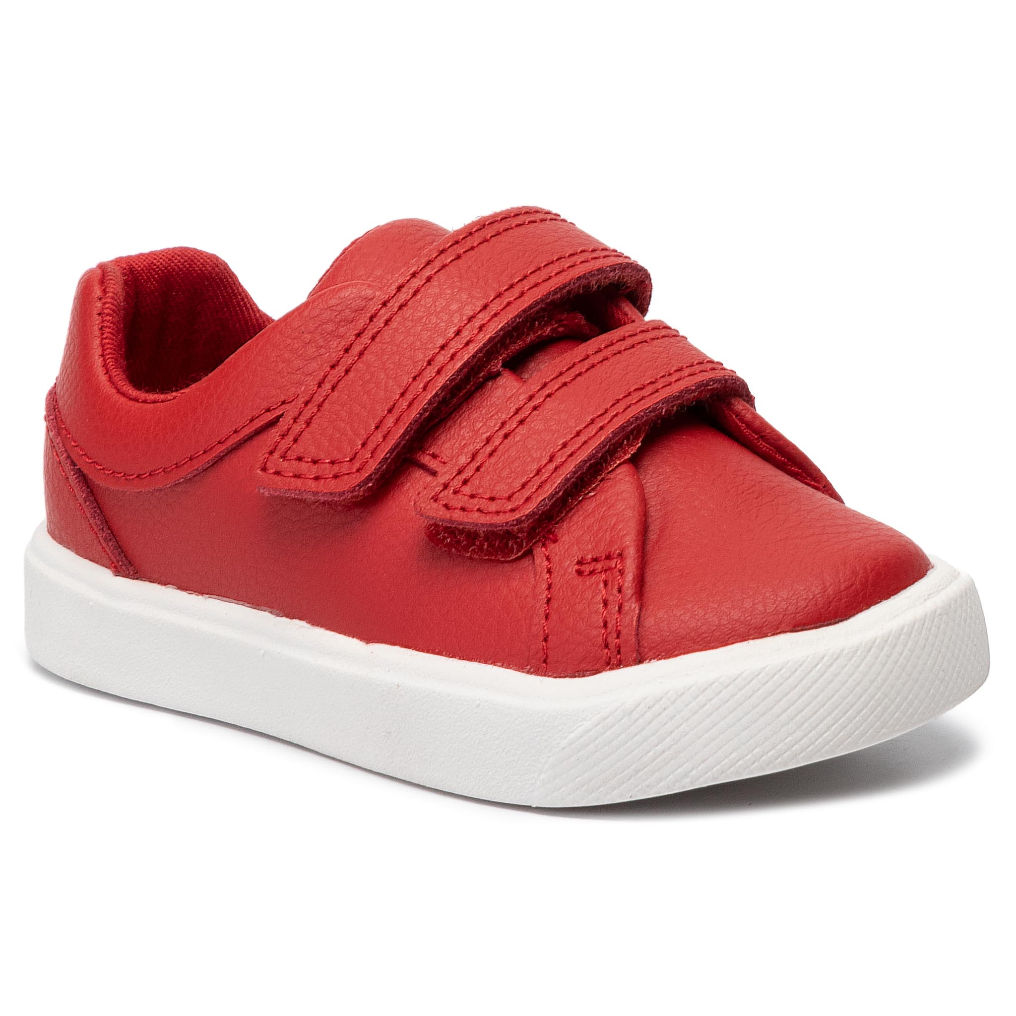 Sneakers CLARKS - City OasisLo T 261432547  Red Leather