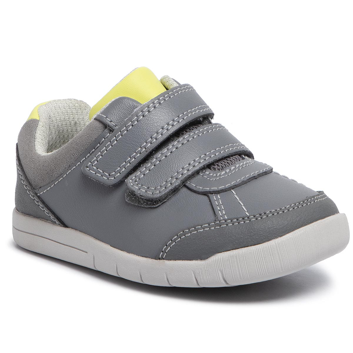 Sneakers CLARKS - Emery Sky T 261464317  Grey Leather