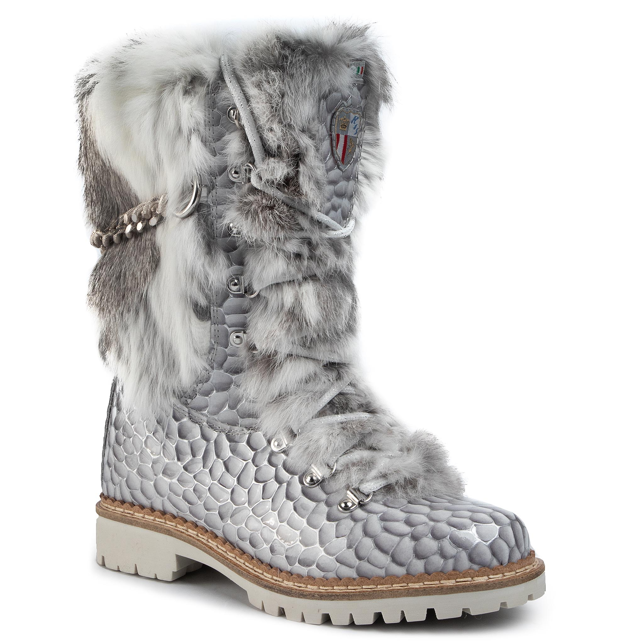 Bottes NEW ITALIA SHOES - 1915400B/8 Pearl Grey