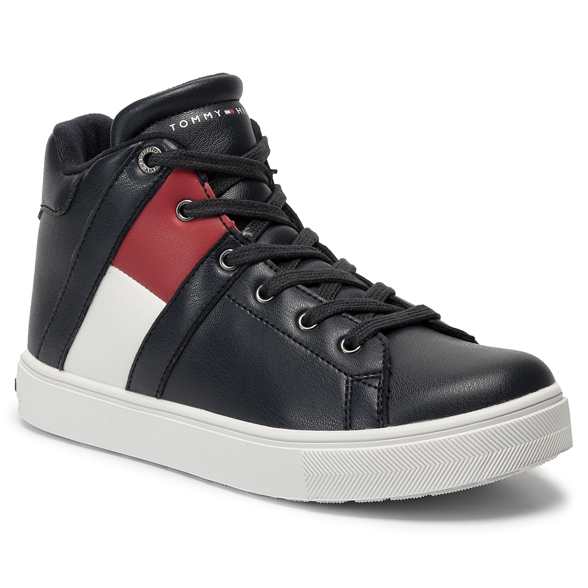 Sneakers TOMMY HILFIGER - High Top Lace-up Sneaker T3B4-30510-0739 D Blue 800