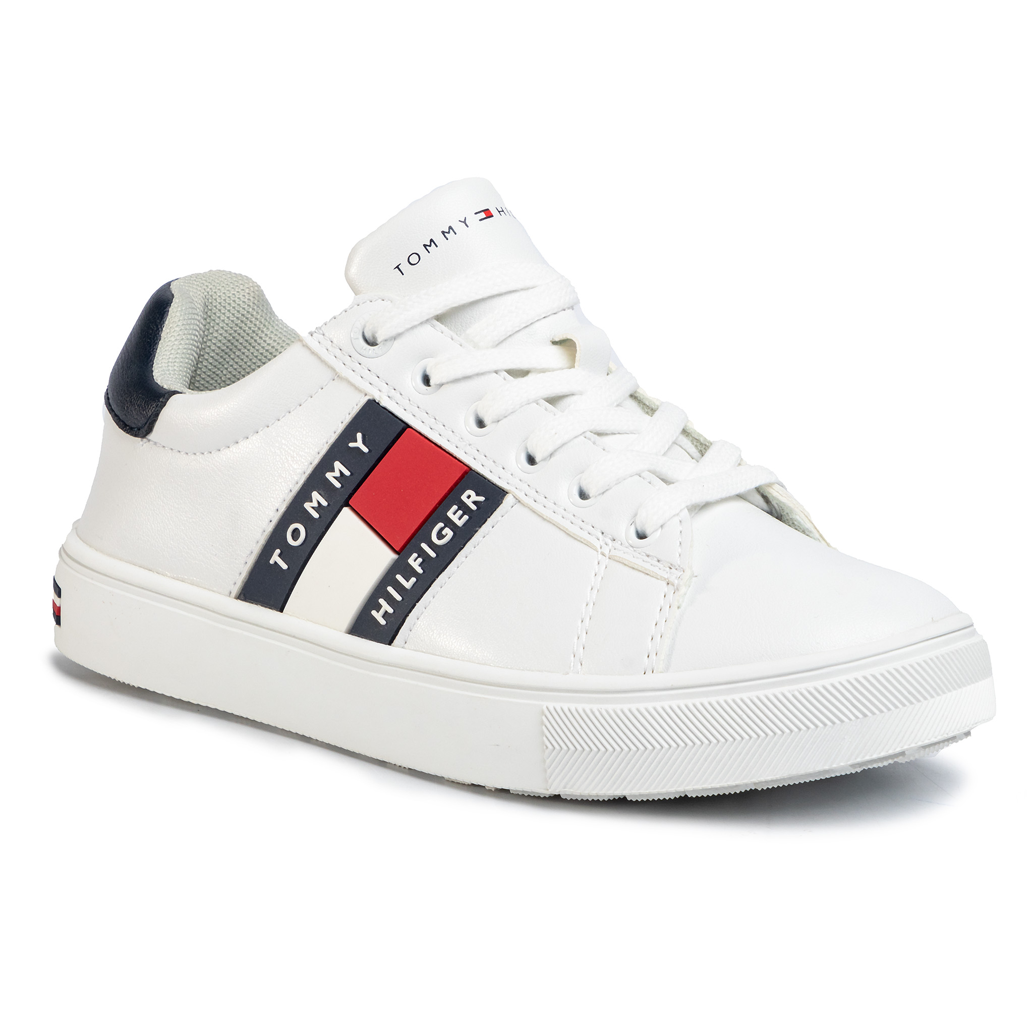 Sneakers TOMMY HILFIGER - Low Cut Lace-Up Sneaker T3B4-30718-0900 S White/Blue X336