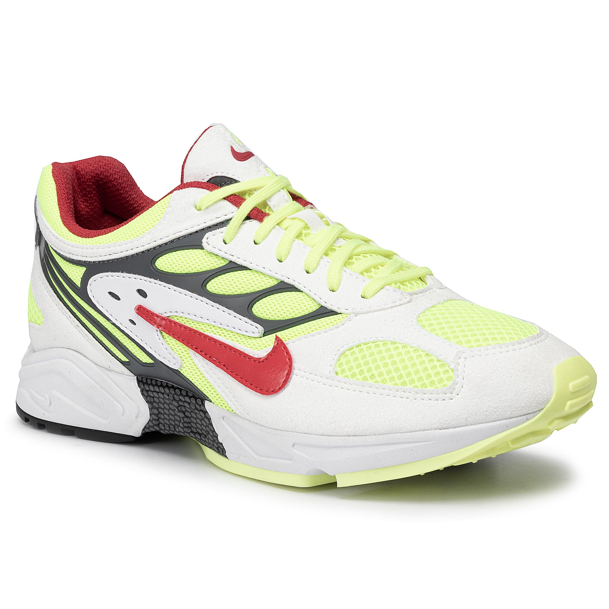 Chaussures NIKE - Air Ghost Racer AT5410 100 White/Atom Red/Neon Yellow