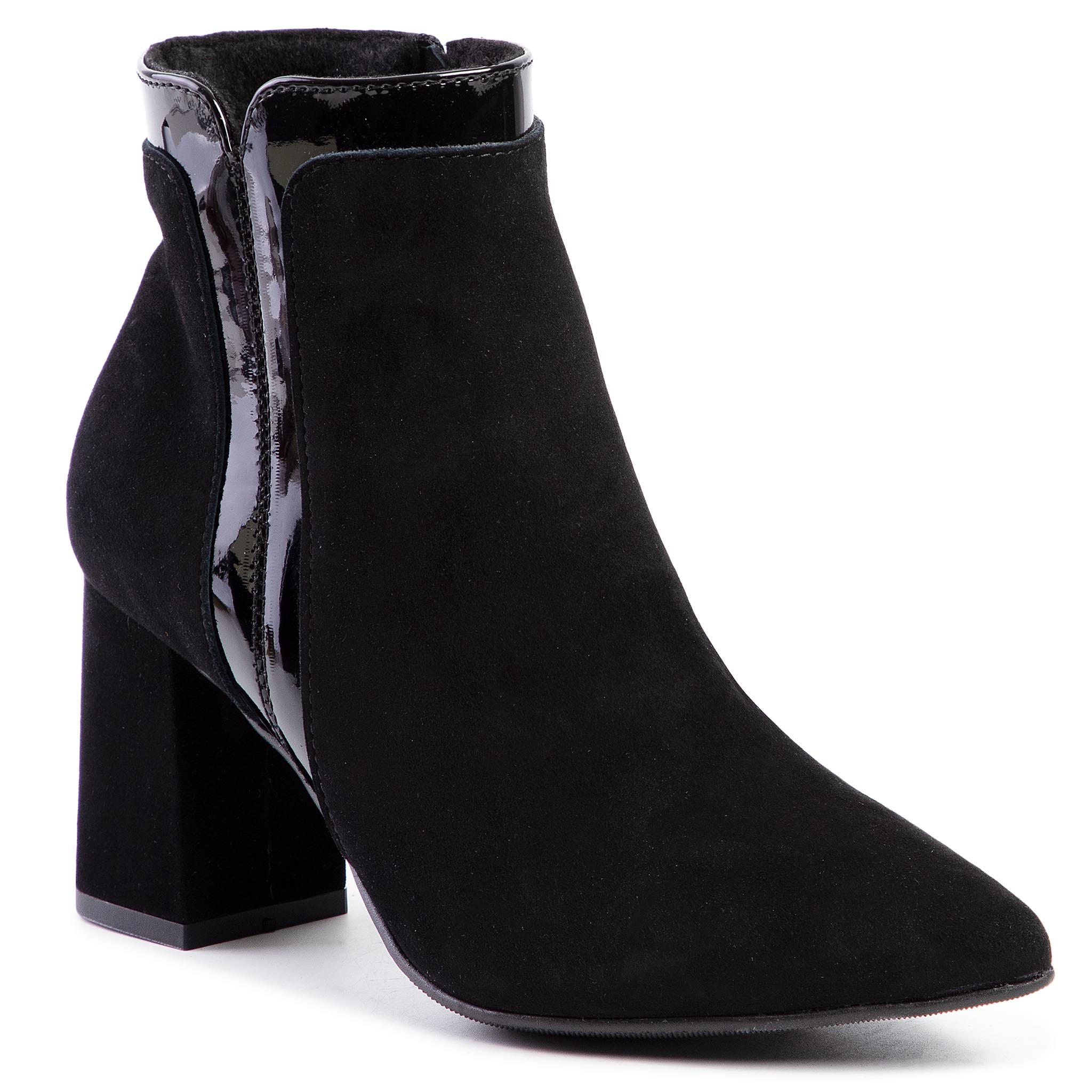 Bottines SAGAN - 3856 Czarny Welur