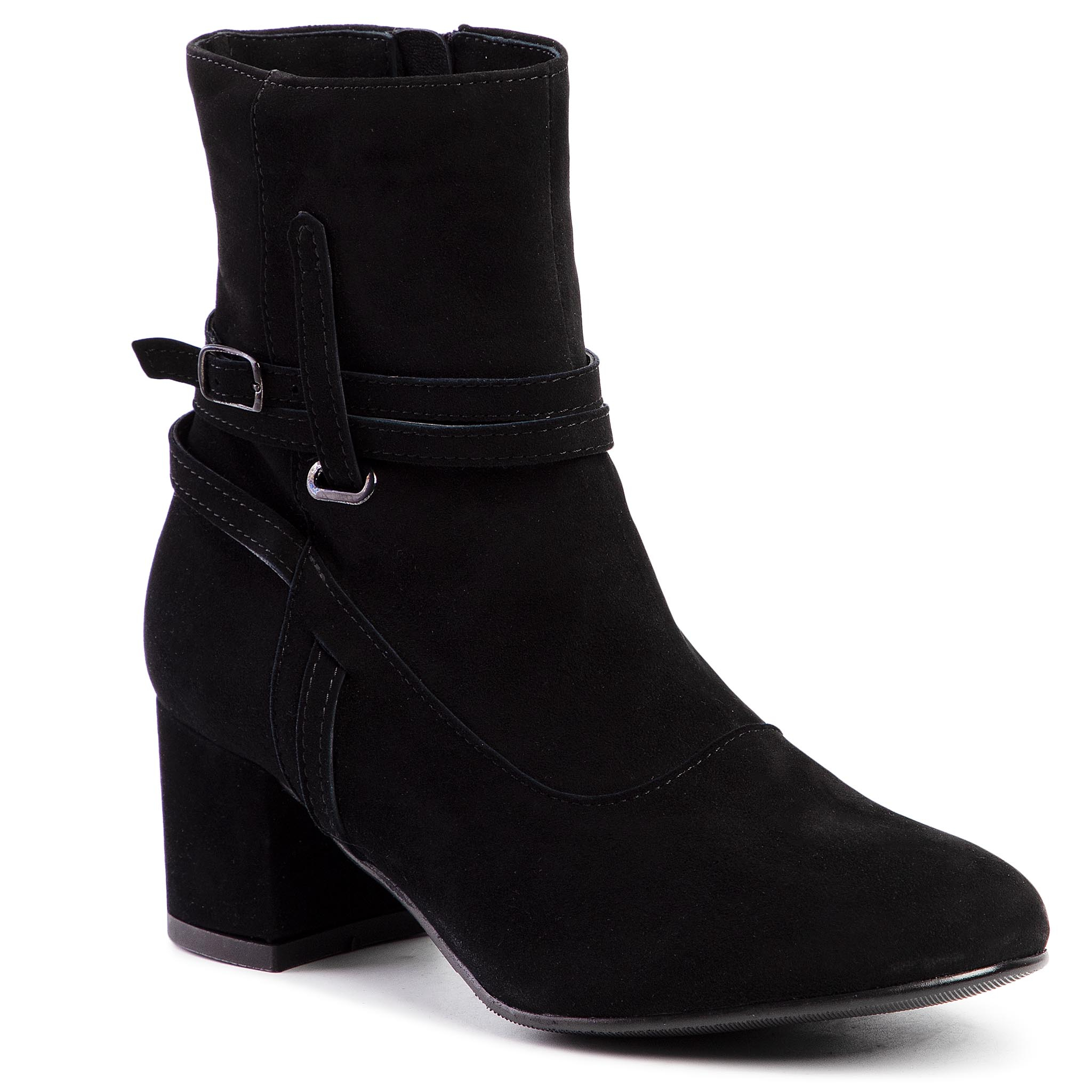 Bottines SAGAN - 3867  Czarny Welur