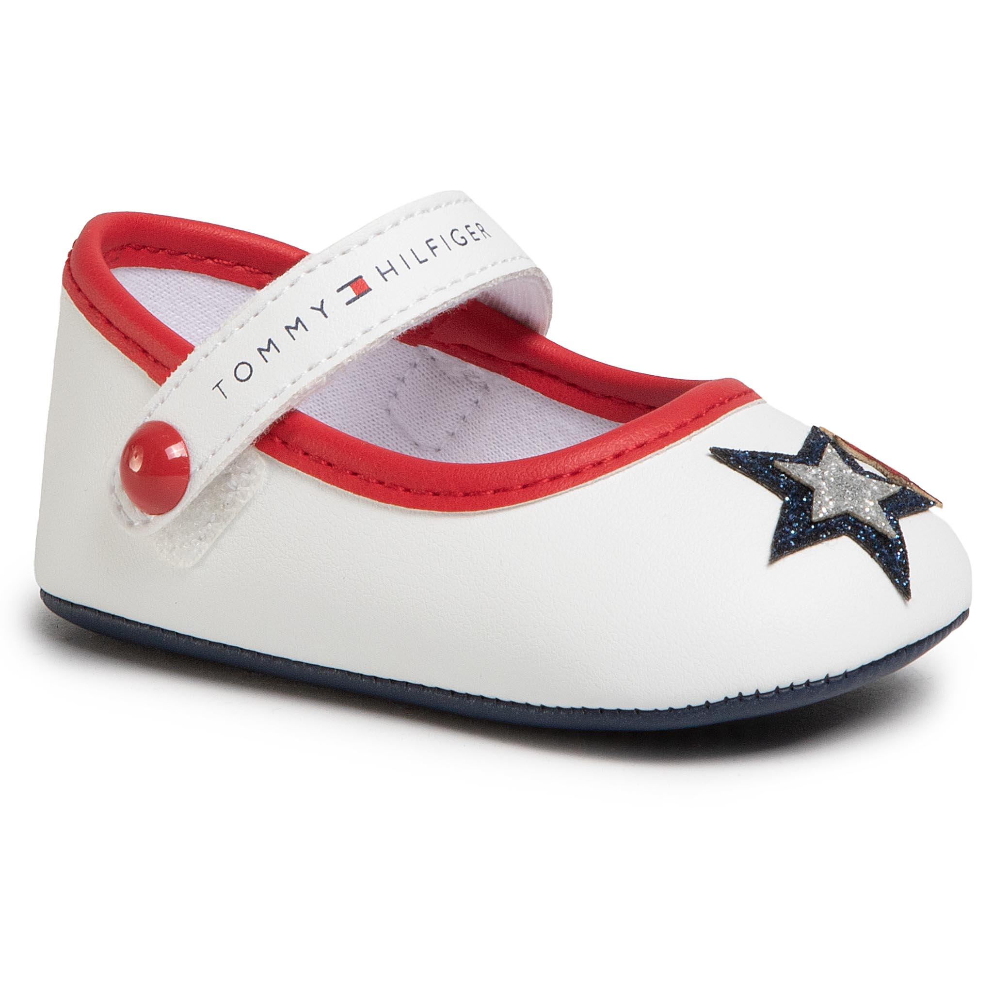 Chaussures basses TOMMY HILFIGER - Ballerina T0A3-30591-0886 White/Blue/Red Y003