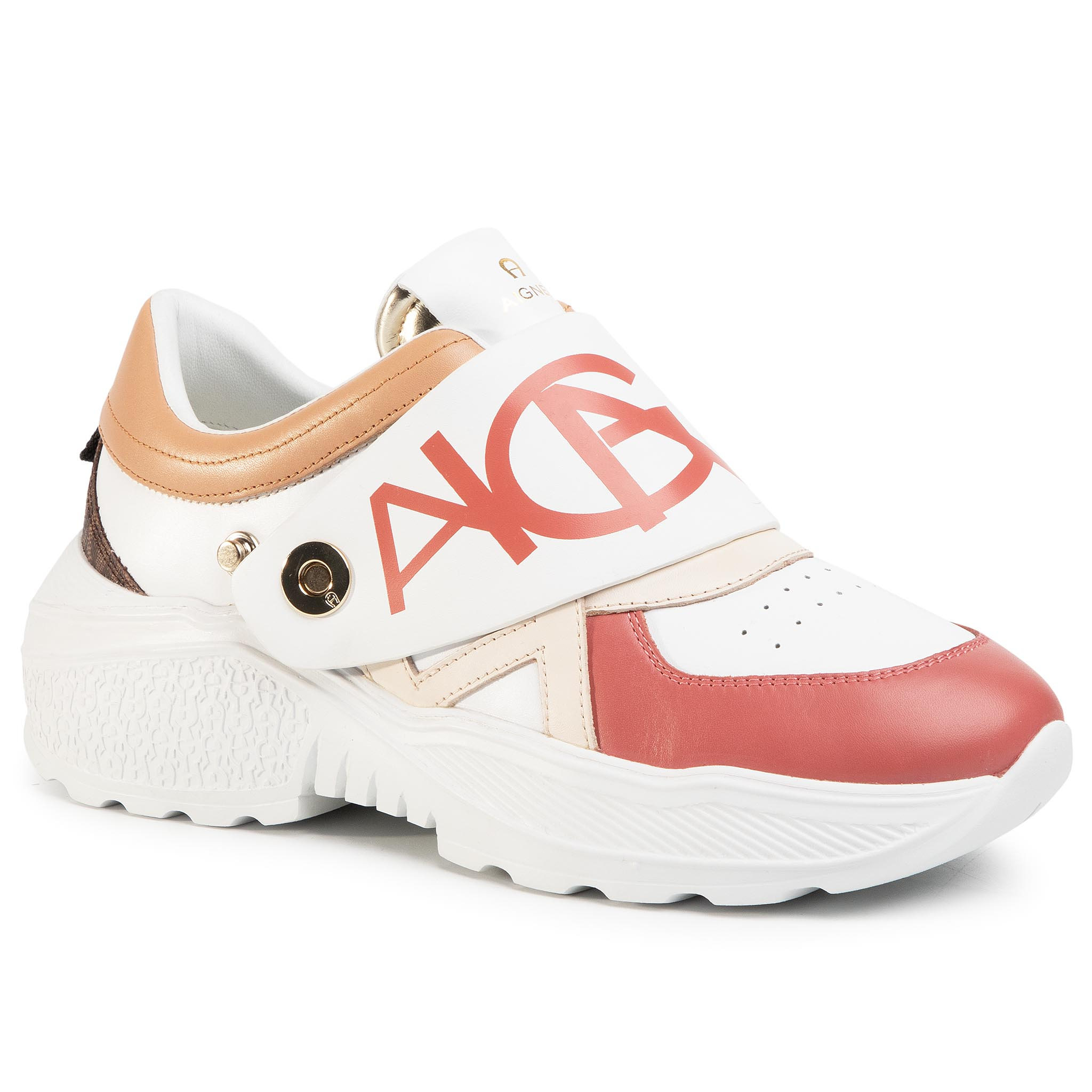 Sneakers AIGNER - Jenny 1 1201070 White/Rose 129