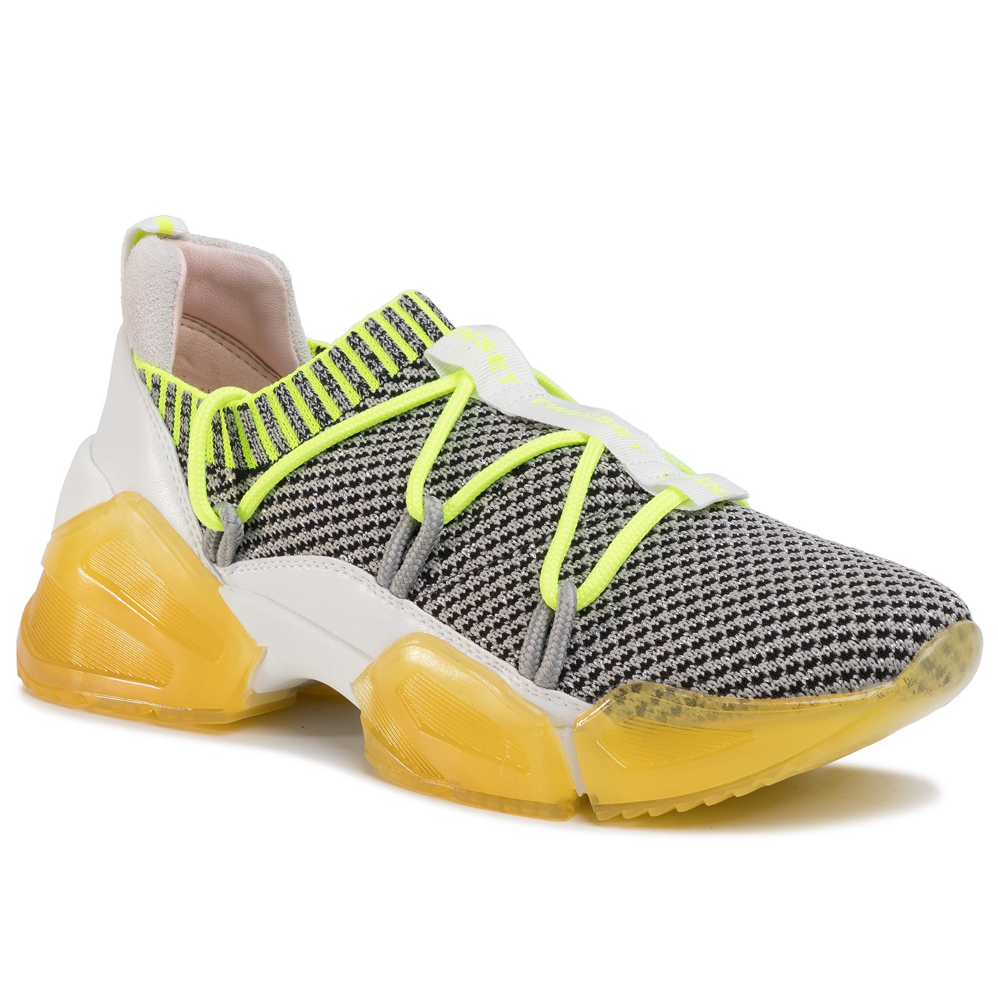 Sneakers TWINSET - Running 201TCP154 Bic. Beige/Giall 04852