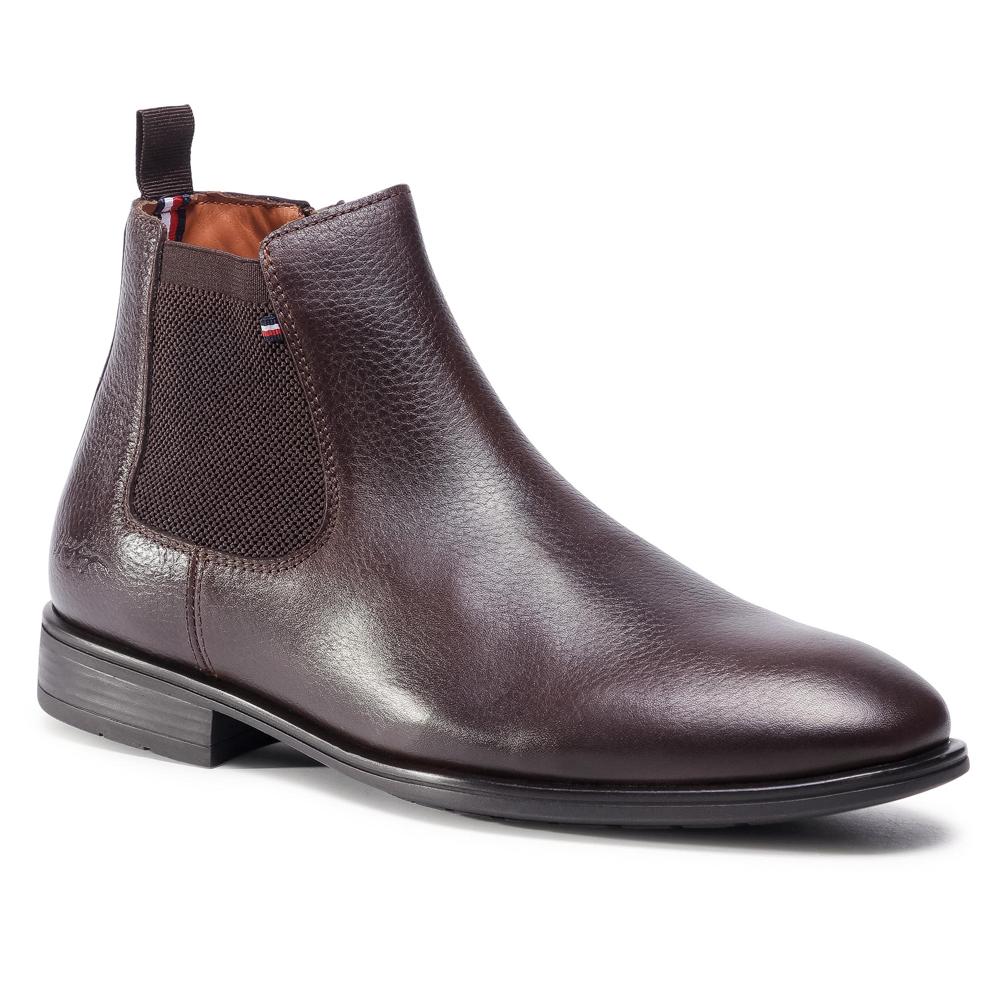 Boots TOMMY HILFIGER -  Technical Comfprt Leather Chelse FM0FM03050 Cocoa GT6