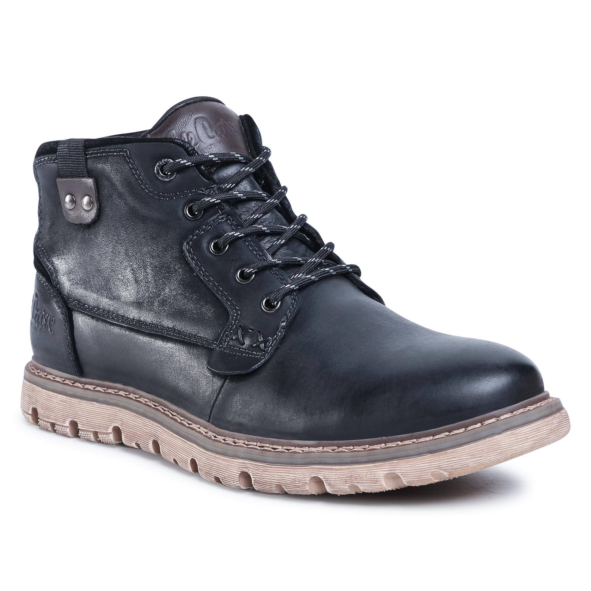 Boots LEE COOPER - LCJ-20-33-111A Black/Dk Brown