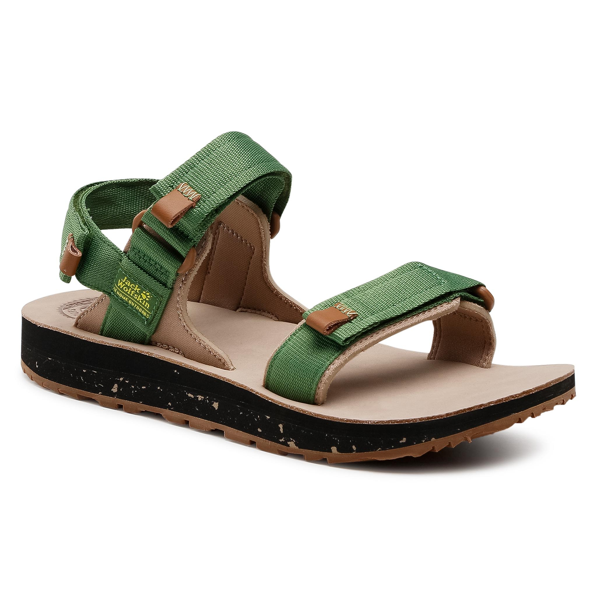 Sandales JACK WOLFSKIN - Outfreshy Deluxe Sandal M 4039431 Green/Brown