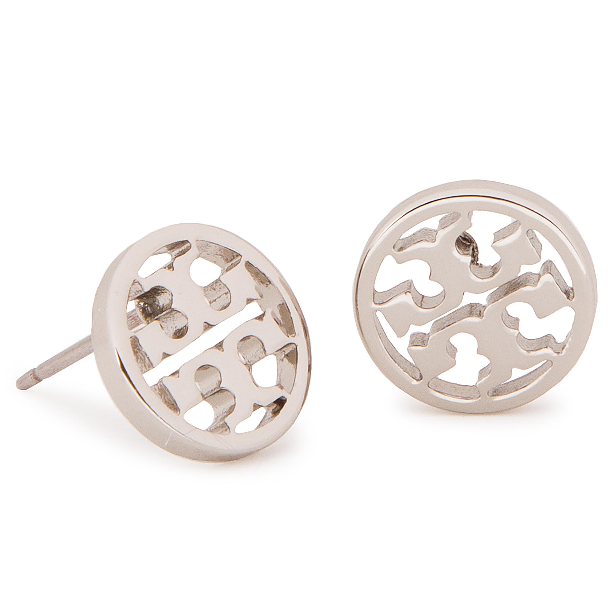 Boucles d'oreilles TORY BURCH - Logo Circle Stud Earring 11165518 Tory Silver 022