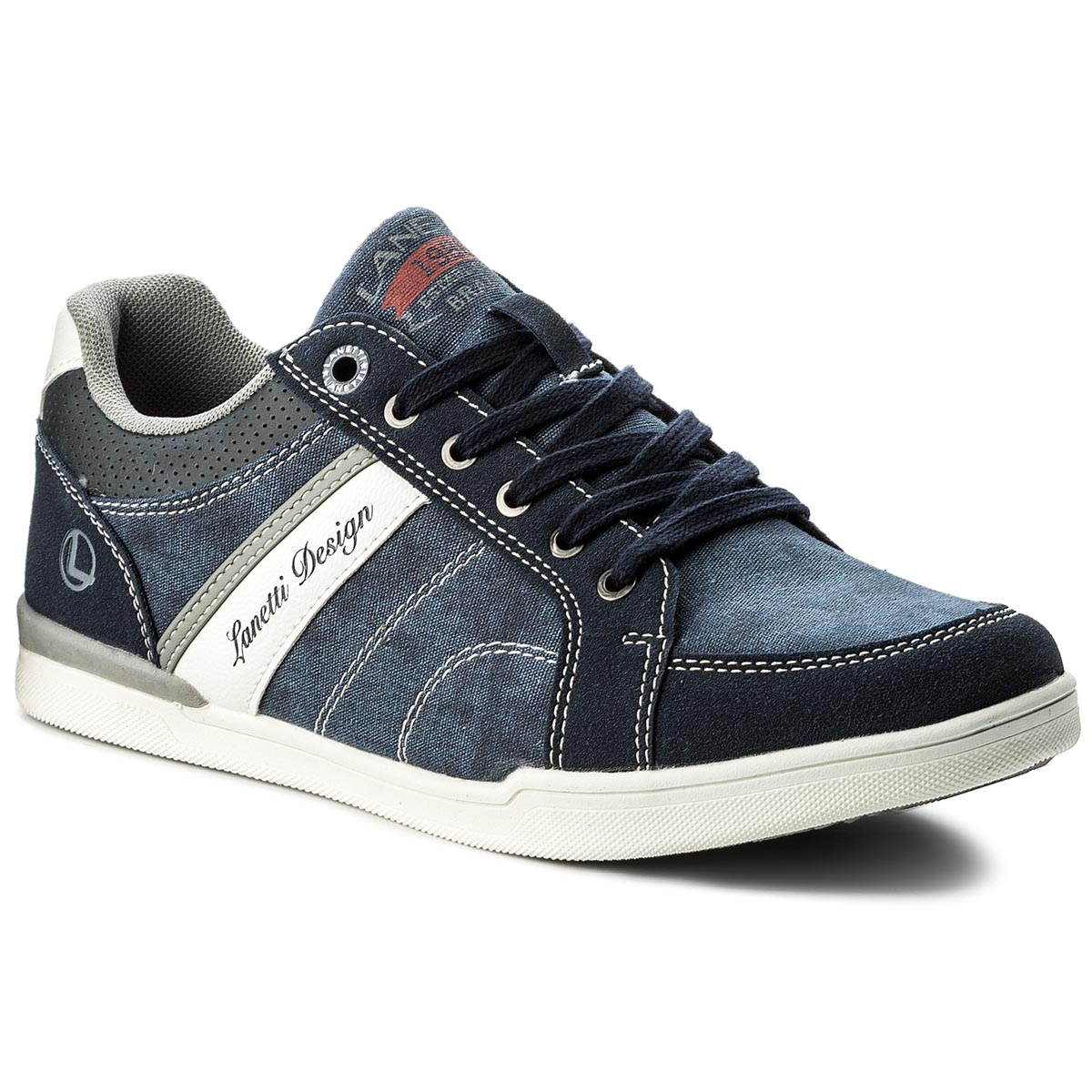 Sneakers LANETTI - MP07-17077-03 Jeansowy
