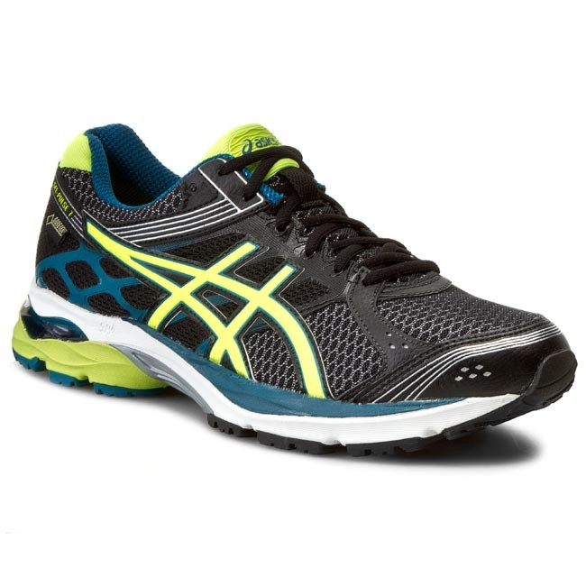 Chaussures ASICS Gel Pulse 7 G TX T5F2N BlackFlash YellowMosaic Blue