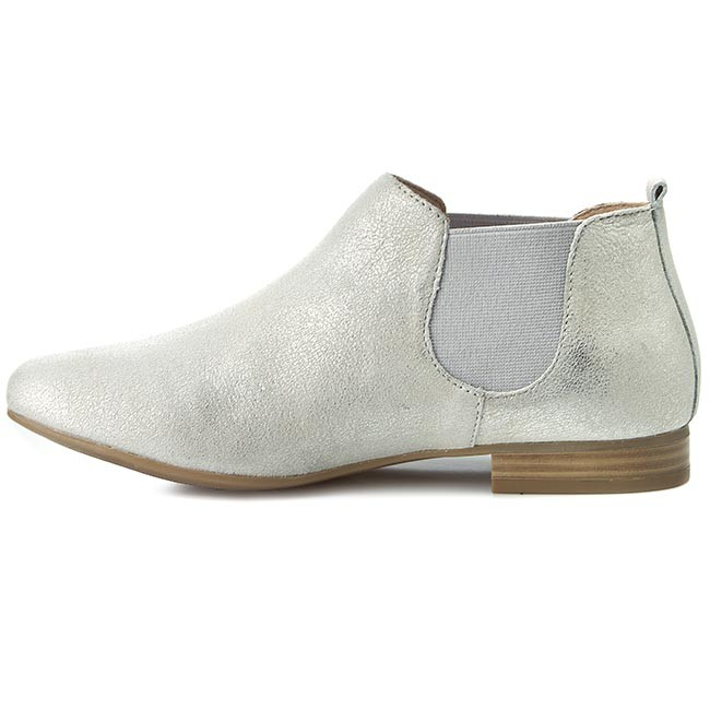 Basses 2015 26 Fall Silver Bottines winter 25301 9 Chaussures Caprice 941 Plates Chelsea Femme Y76gbfy