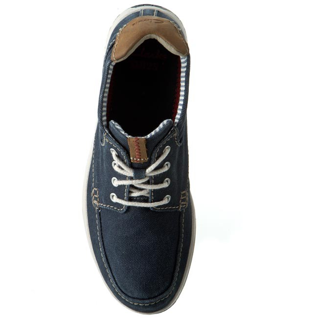 Chaussures basses CLARKS Norwin Vibe 203586147 Navy Canvas