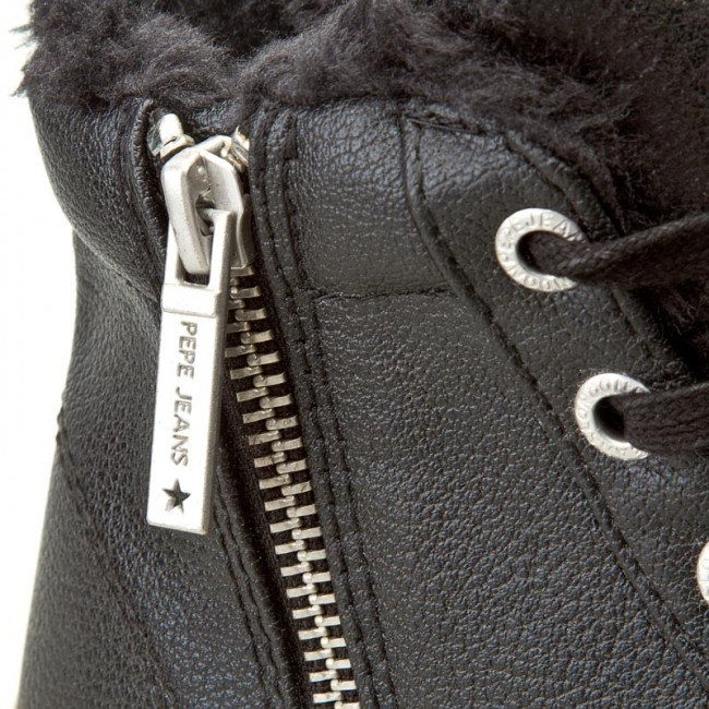 Basses 2016 999 Pepe Sneakers Fur Femme Black Clinton Pls30358 Plates Fall Jeans Chaussures winter 54ARjL3
