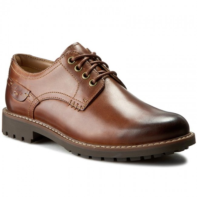 cf9f1935512348 Chaussures basses CLARKS - Montacute Hall 203510857 Dark Tan Leather ...