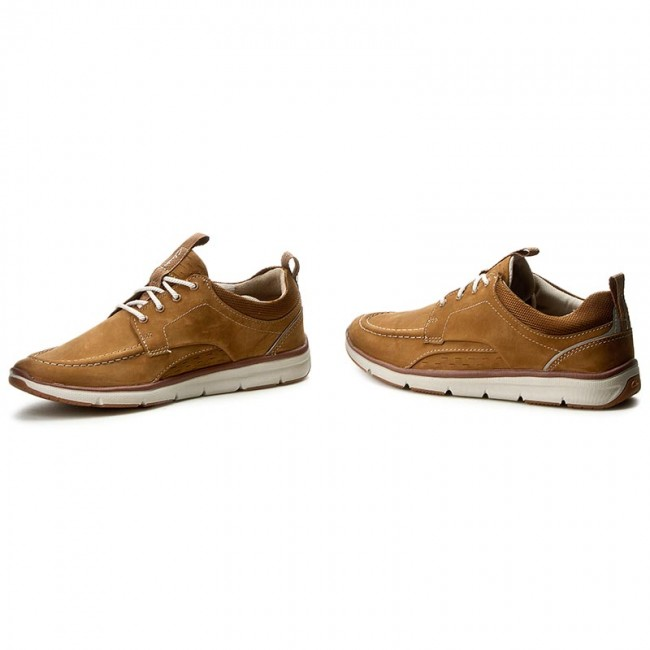 Chaussures Basses Clarks Orson Bay 261236237 Tan Nubuck D