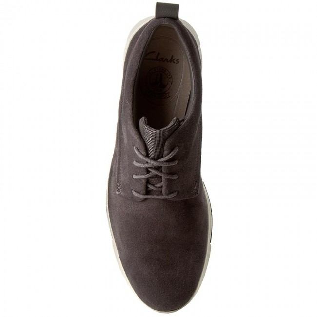 Chaussures Basses Clarks Tynamo Walk 261244837 Dark Grey Suede D