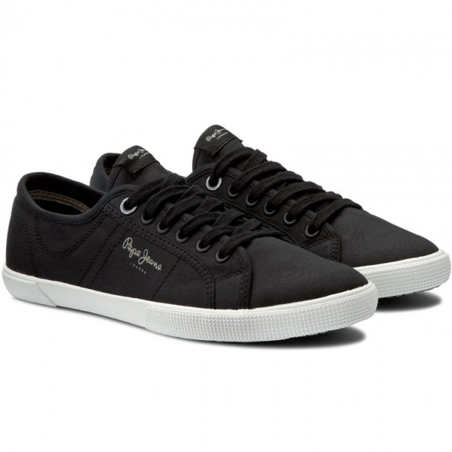 Tennis Pepe Jeans Aberman 2.1 Pms30352 Black 999 Baskets Chaussures Basses Homme Spring/summer 2019