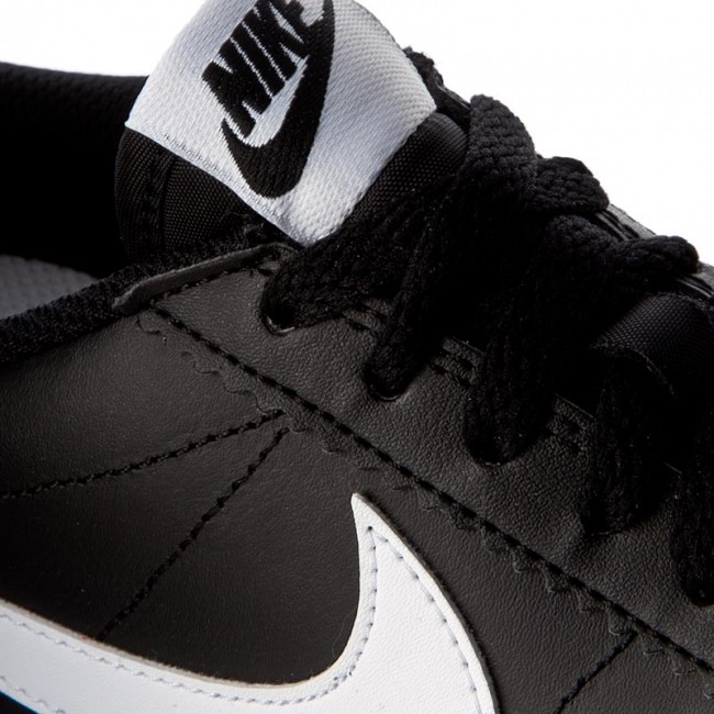 Black Classic Leather 807471 white Nike white Cortez Chaussures 010 nkOwP0