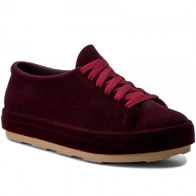 32319 Burgundy Chaussures Femme winter 2017 Basses Ad Melissa Be 51586 Plates Fall Flocked n0OP8wk