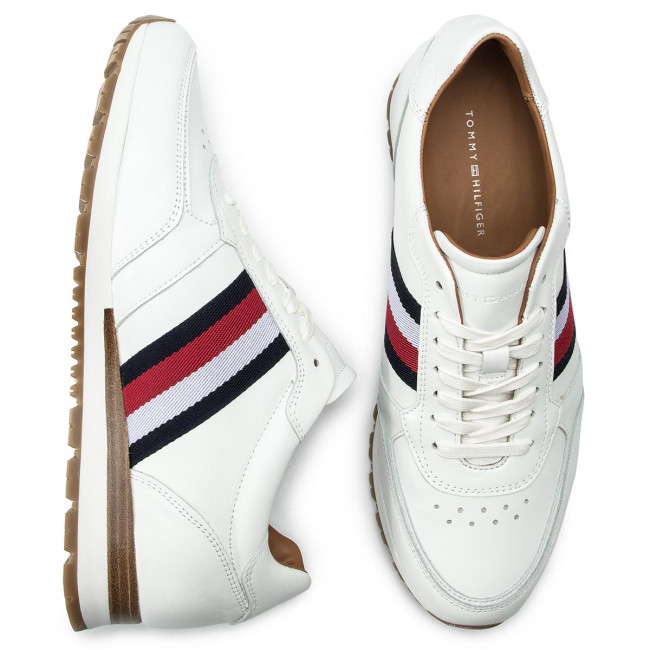 Sneakers TOMMY HILFIGER Luxury Corporate Leather Runner FM0FM00960 White 100