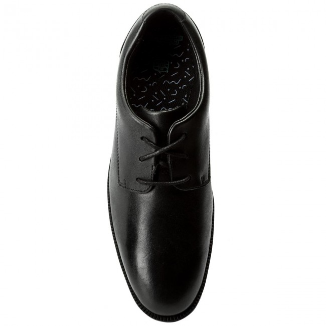Clarks Leather Rufus Bl Black Chaussures Edge 261268366 Basses 54LR3Ajq