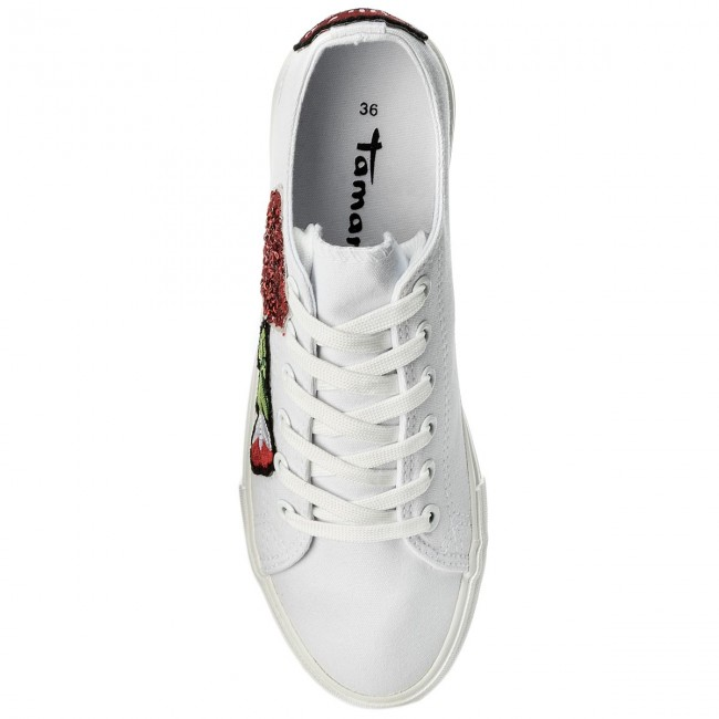 Tamaris Femme 1 Valentin Tennis Basses Spring Baskets 23633 135 White 2018 20 summer Chaussures w0kn8OP