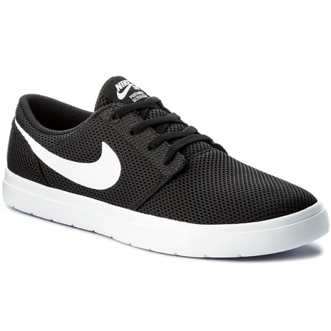 Chaussures NIKE - Sb Portmore II Ultralight 880271 basses 010 Black/White - Sneakers - Chaussures basses 880271 - Homme 9e8fa6