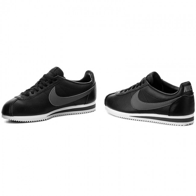 Homme Nike Basses Black dark white Sneakers Chaussures summer Classic Leather q1 011 2019 Cortez Spring Grey 749571 O8mwN0vn