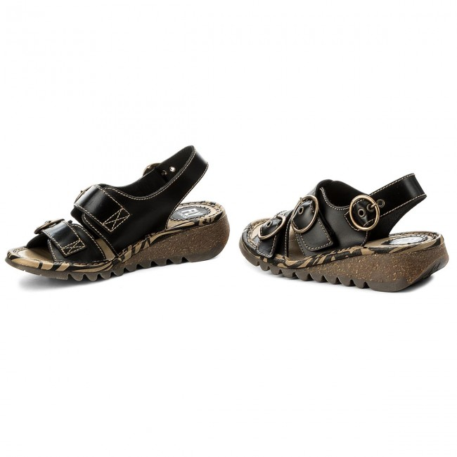 Sandales Mules Black 2019 Femme P500806000 Decontractees Spring London summer Fly Et Tearfly IHWYED92