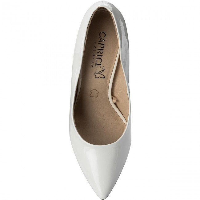 59221d786 Chaussures basses CAPRICE - - - 9-22416-20 White Patent 123 - Talons ...