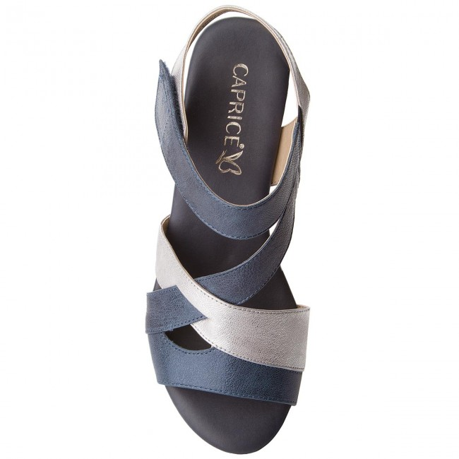 28214 2018 summer 893 Et Spring silver Compensees Femme 9 20 Sandales Navy Mules Caprice WH2E9ID