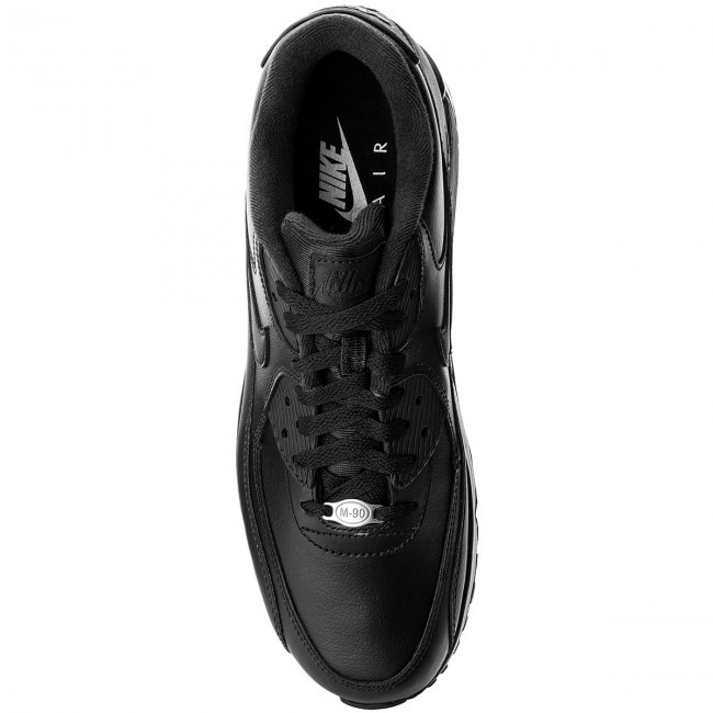 Chaussures NIKE - Air Max 90 Leather 302519 302519 Leather 001 Black/Black - Sneakers - Chaussures basses - Homme 23bd6f