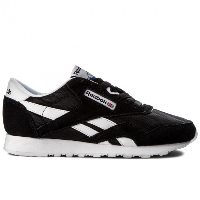Reebok 6606 Cl white Black Chaussures Nylon wTPXiZOkul