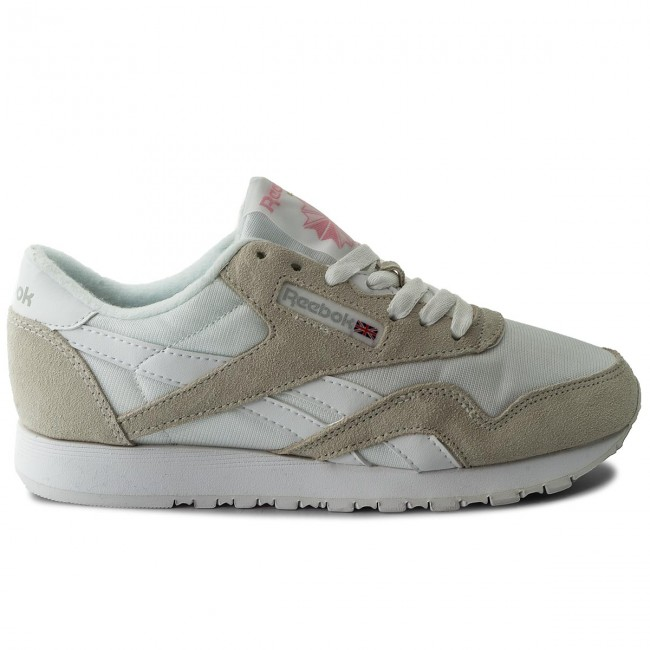 Cl Nylon 6394 Reebok White Chaussures light Grey UVqzMLSpG