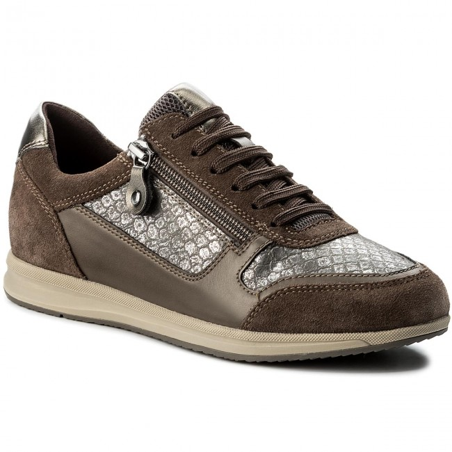 0pv22 Smoke D D74h5a chestnut Avery Grey Geox A Sneakers C1x6j cRqA35j4L