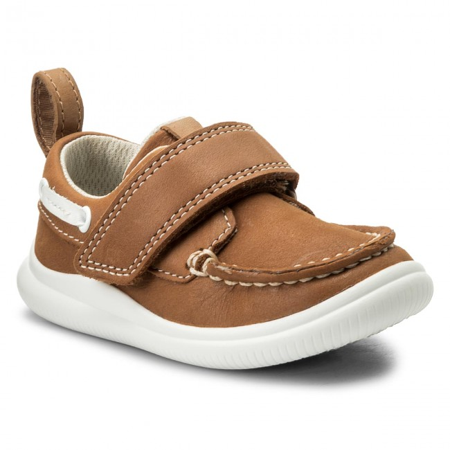 Tan Cloud Scratch Gar Fermeture Clarks summer Leather 2018 Snap Chaussures Spring 261316876 Basses on Mocassins Enfant y0vwm8ONnP