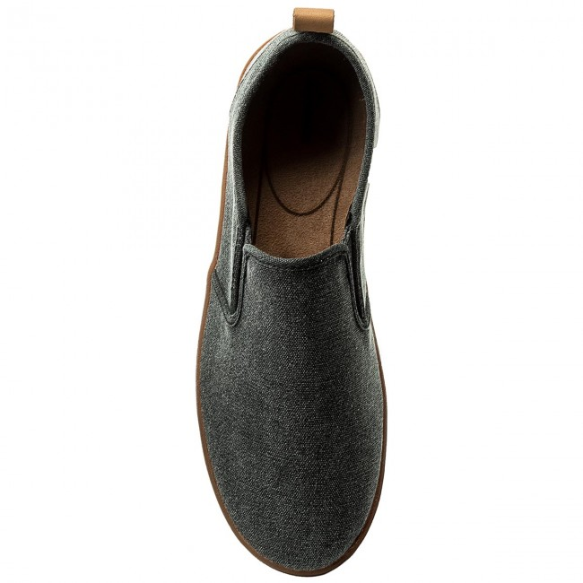 Basses Clarks 261322597 Slip Mapped Fabric Black Homme Spring Chaussures 2018 summer Detente D29eEYWHI