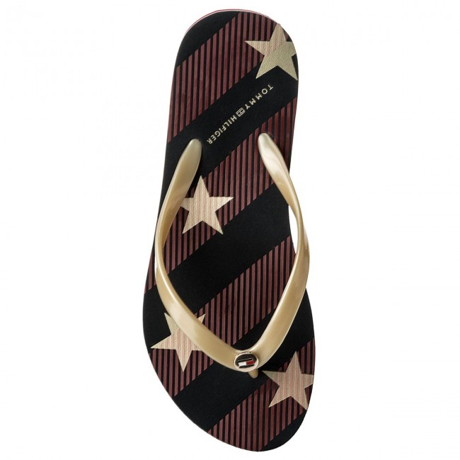 403 Fw0fw02384 Stars Midnight Tongs Tommy Beach Sandal And Hilfiger Stripes vN08nwm